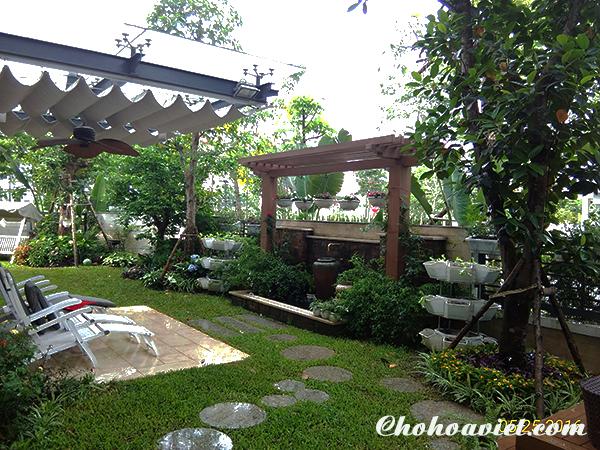 Thiết kế sân vườn biệt thự Mỹ Đình 1