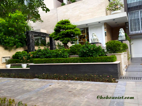 Thiết kế sân vườn mẫu cổ điển dành cho biệt thự ít không gian
