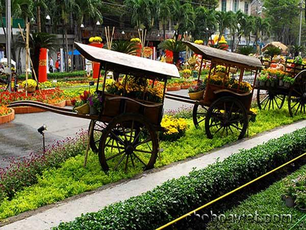 xe b3ò trang trí sân vườn