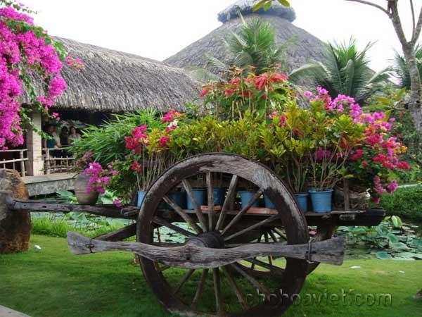 xe bò trang trí sân vườn2
