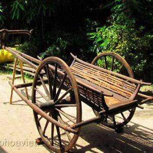 xe bò trang trí sân vườn3