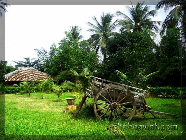xe bò trang trí sân vườn