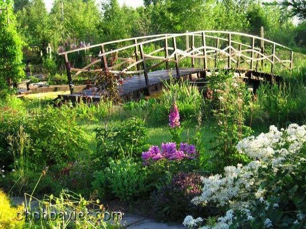 cầu trang trí sân vườn