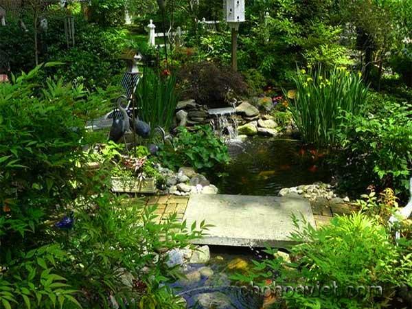 cầu trang trí sân vườn9