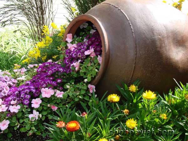 Chum vại trang trí sân vườn