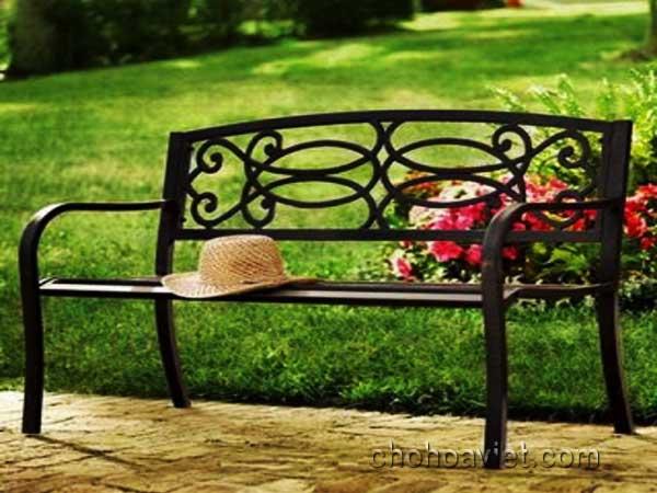 Ghế nghỉ sắt mỹ thuật trang trí sân vườn