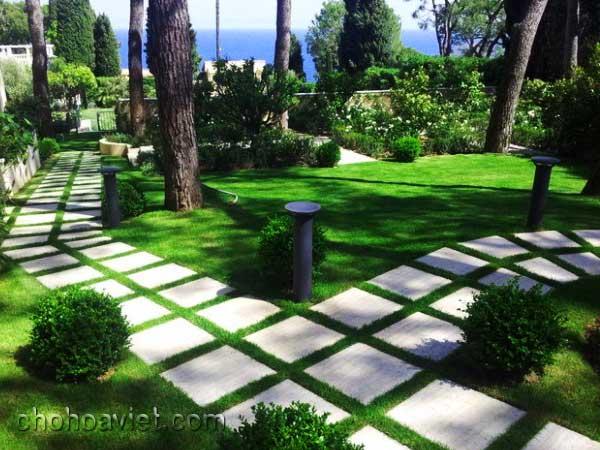 Lối đi trang trí sân vườn
