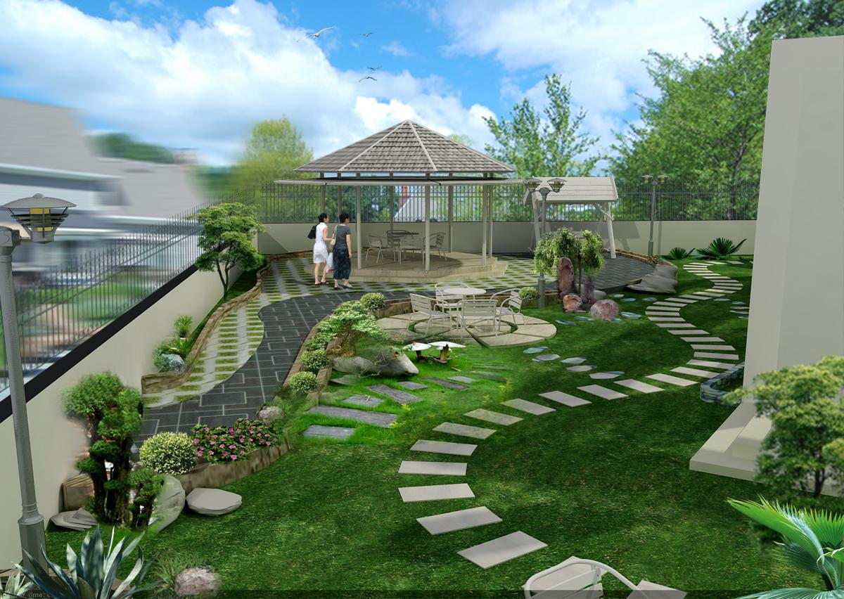 Tham khảo một số mẫu sân vườn đẹp